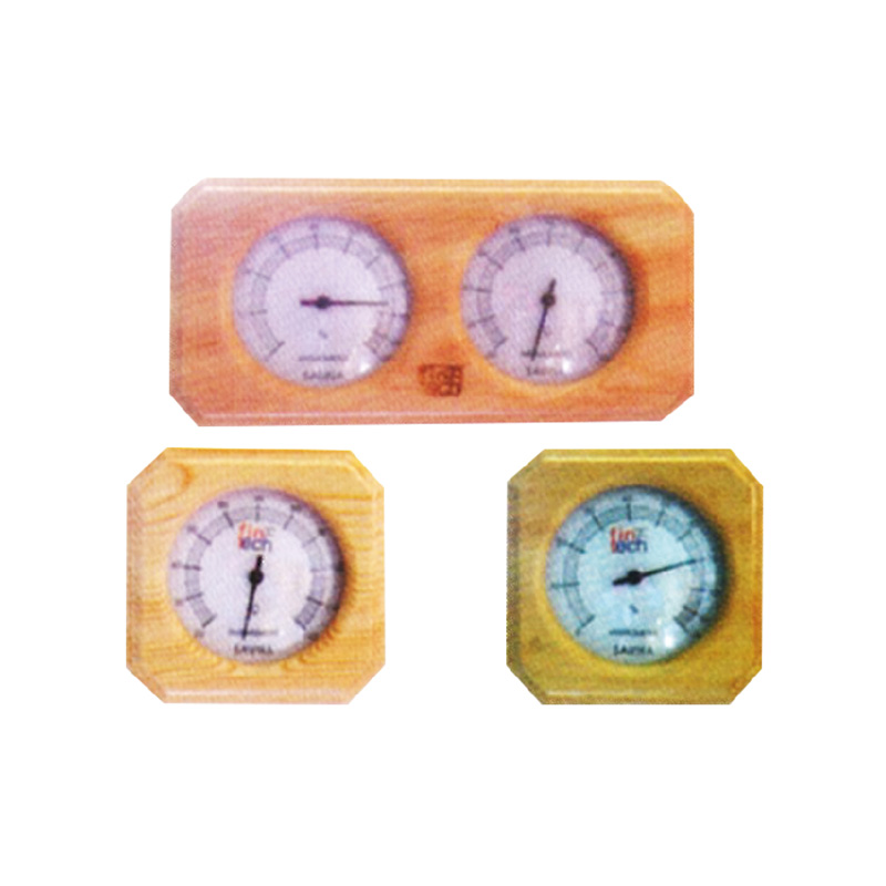 SAUNA WOODEN THERMOMETER AND HYGROMETER